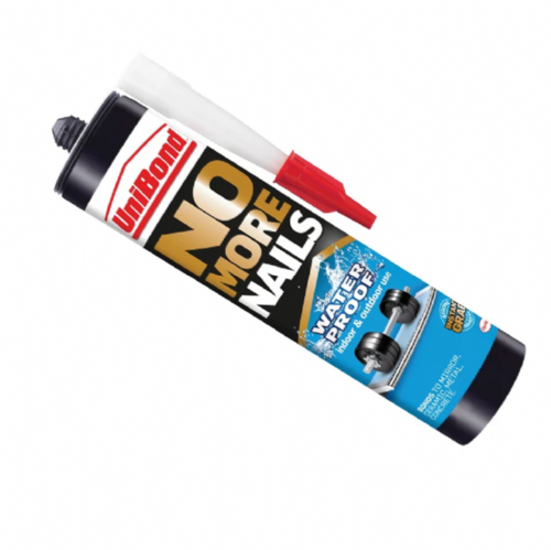 Unibond No More Nails Waterproof Indoor & Outdoor Adhesive White 300ml